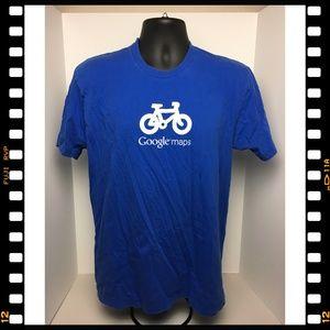 T-Shirt~Google~Maps~Blue~